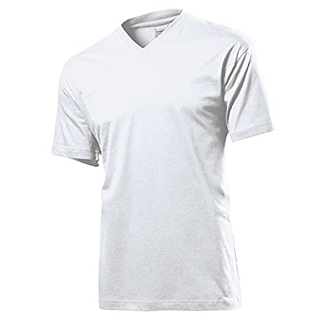 Stedman - T-Shirt mit V-Ausschnitt XL,White