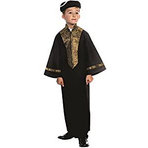 Dress Up America - Disfraz de rabino Sefardí para niños, multicolor, talla L, 12-14 años (843-L)