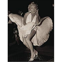 Marilyn Monroe - La Tentación Vive Arriba, Escena del Vestido Blanco Póster Impresión Artística (80 x 60cm)
