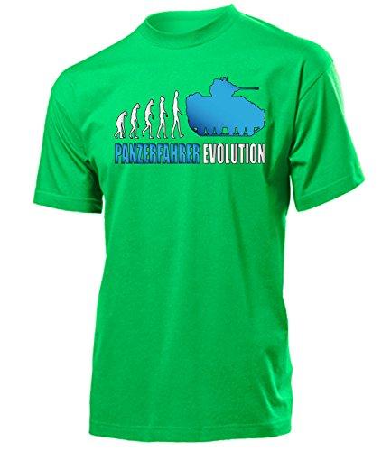love-all-my-shirts Panzerfahrer Evolution 2001 Herren T-Shirt (H-Kellygreen-Weiss-Blau) Gr. M