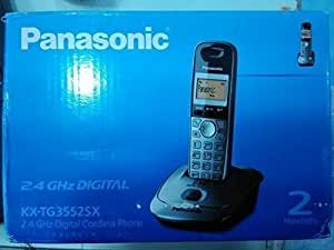 Panasonic KX-TG3552SXM- Metallic 2.4 GHz Digital 2 Handset Phone