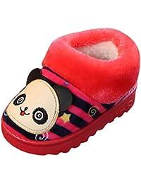 VICGREY ❤ Pantofole A Casa Per Bambini Peluche Antiscivolo Scarpe Indoor  Delle Pantofole Di Inverno Dei 5486f6d481b