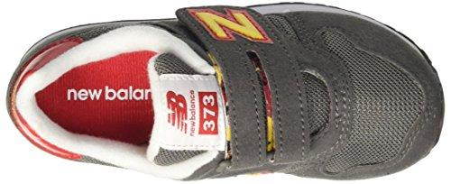 New Balance NBKV373TOP, Chaussures de Football Garçon Jaune (Grey Orange)