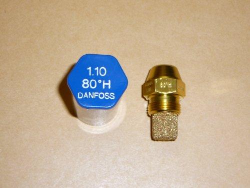 Danfoss Oil Fired Boiler Burner Nozzle 1.10 x 80 H USgal/h ° Degree Spray Pattern 1.1 Heating Jet 4.24 Kg/h
