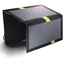 X-DRAGON High Efficency 20W Solar Panel Charger with Fast Charging Technology Dual-Port Portable Foldable Outdoor Backup for iPhone 6 plus 5S 5C 5 4S 4, iPods, Samsung Galaxy S5 S4, S3, S2, Note 3, Note 2, Most Kinds of Android Smart Phones, Windows phone and More Other Devices