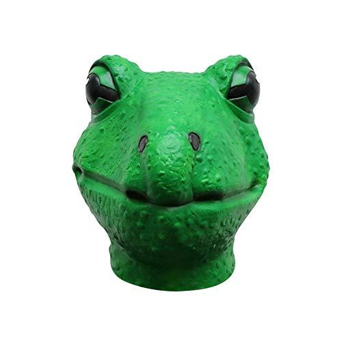 Seawang Halloween-Masken für Erwachsene, aus natürlichem Latex, Frosch-Maske mit süßem Tierkopf, ()