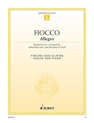 Allegro: Violine und Klavier. (Edition Schott Einzelausgabe)