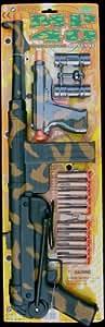 Military Schmeisser MP40 Dart Gun Set with Auto Pistol