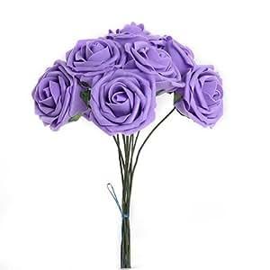 Gleader Pianta artificiale Fiore viola decorazione in Schiuma PE per le spose