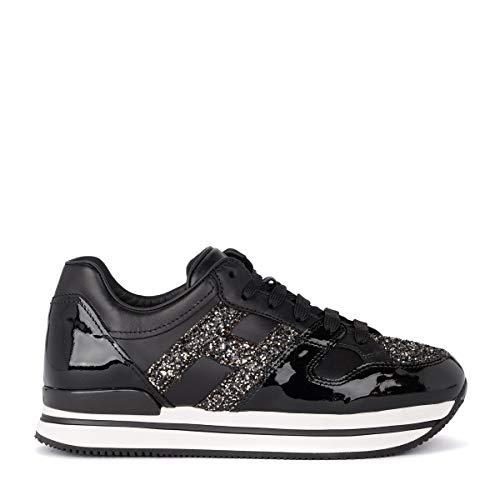 Hogan Sneaker H222 Nero Vernice GLIT - 39