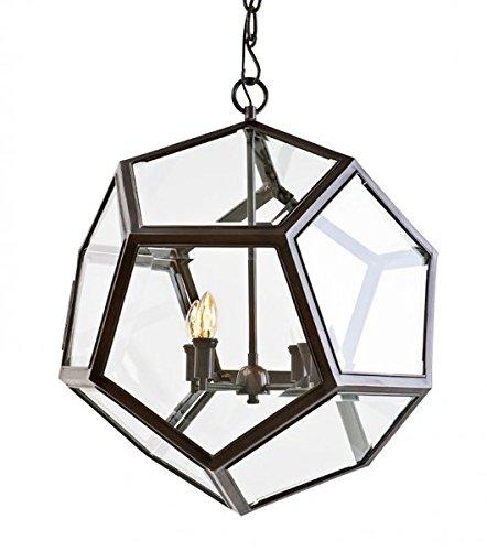 Casa Padrino Luxus Laterne - Luxus Rotguss Hängeleuchte Durchmesser