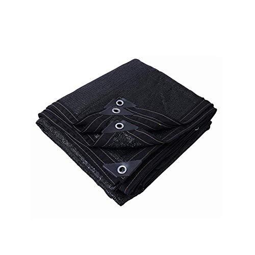 KYCD Pare-Soleil Filet de Protection Solaire Épaississement Cryptage Ombre Filet Balcon Jardin Toit Remise Isolation Filet Noir (Taille : 3 * 5m)