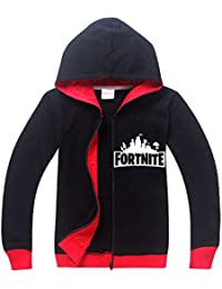 SERAPHY Unisex Fortnite Hoodies PS4 Gaming Top Sweaters Jumper Chaquetas de Manga Larga