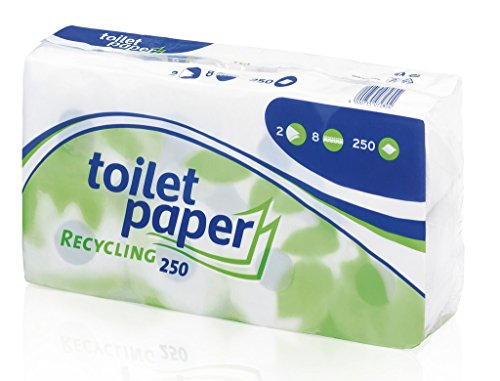 Wepa - Toiletten Papier Recycling 250 Blatt - 8St (Toilette 8)