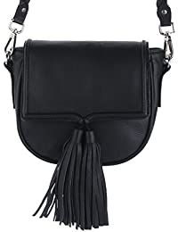 Women's Genuine Leather Black Sling Bag Cross Body By Pavo Fashion