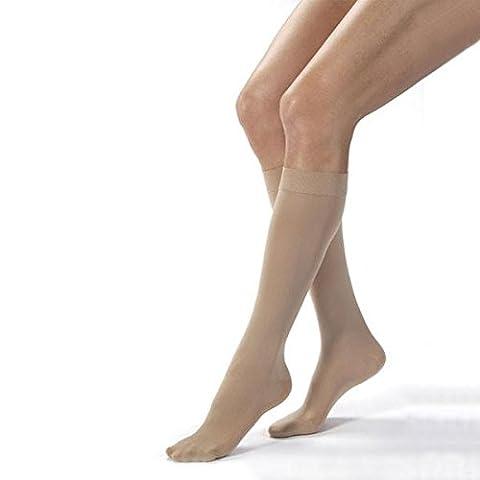 Jobst Opaque Closed Toe Knee Highs 20-30 mmHg Large - 115458 - HONEY - LG