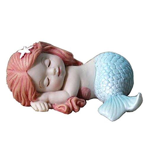 Jardin Féérique miniature et décorations de terrarium Lovely Résine bébé sirène figurine Table ou étagère Décor