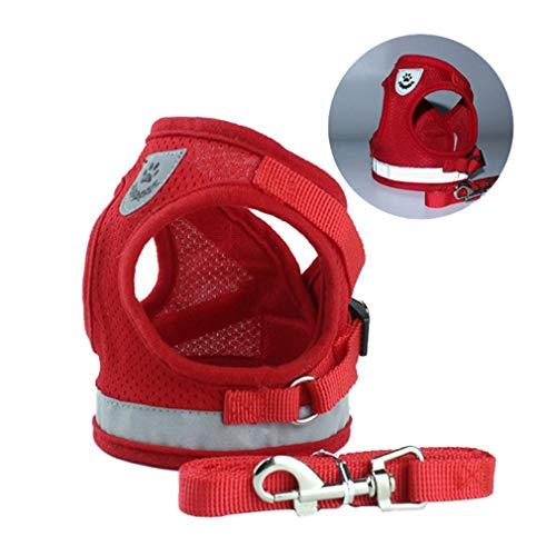 Hund führt Harness, Hundegespannweste, Stoff und weich gepolstertes Netz Verstellbares...