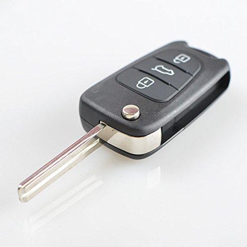 AUTOMAN 3Tasten Flip Klappschlüssel Shell Fernbedienung Auto Schlüsselanhänger Schutzhülle 2012 Hyundai Elantra Fußmatten
