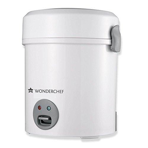 Wonderchef 60018500 Mini Rice Cooker, 500ml (Sliver)