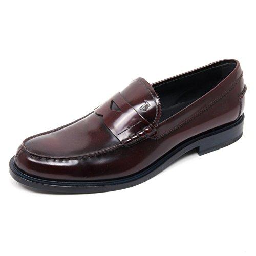 b8407-mocassino-uomo-tods-scarpa-bordeaux-scuro-fondo-cuoio-shoe-loafer-man-105