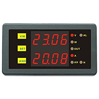 AILI DC 0-90V 0-150A Combo Meter Voltage Amp Power Ah Hour Programmable Limit Protection For Motor Boat Car Motorhome Caravan Battery Tester