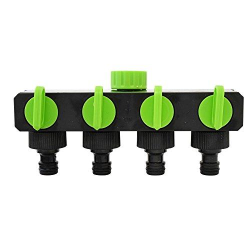 Generic ou Split Tuyau d'arrosage adaptateur T Off Valve 1-tap-to-4 VE 1-tap-to- 4 Way robinet de jardin R Arrêt VA connecteur Splitter Garden robinet d'arrêt en Co