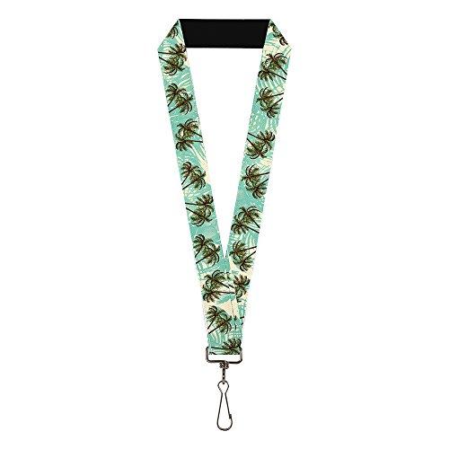 Buckle Down Herren Lanyard-Palm Trees Schlüsselanhänger, mehrfarbig, Standard