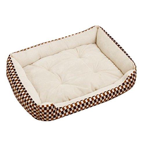 Extra Größe Luxus Hundebett Hundekissen Oxford Gewebe mit unten einen Anti-Rutschboden Beige 2