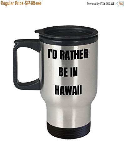 Hawaii Reisebecher mit Aufschrift
