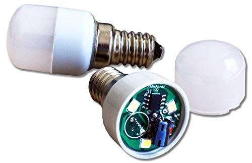 Ecosavers Kühlschrank LED Alarm Licht E14 nach 10 Sekunden blinkend und nach 20 Sekunden Buzzer (Kühlschrank-gehäuse)