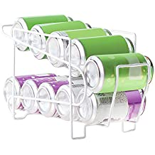 Yunhigh Dispensador de latas Bebidas para refrigerador 2 Niveles Pop refresco Lata Soporte Organizador la Rejilla