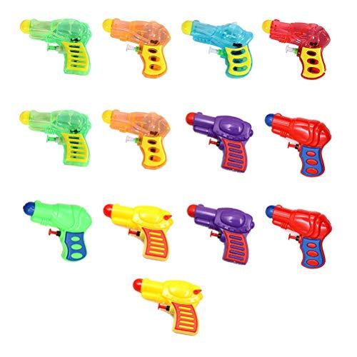 NUOBESTY Mini Squirt Guns Kunststoff-Wasserpistolen für Kindergeburtstag Gastgeschenke, Pool Beach Toys - 13 Stück, Zufällige Farbe