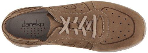 Dansko Mens Wesley Fashion Sneaker Khaki Milled Nubuck