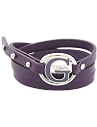 Guess mujer pulsera enroscable piel lila g Pop ubb12236