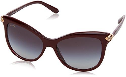 Bulgari Damen 0Bv8188B 54308G 57 Sonnenbrille, Rot (Bordeaux/Grey),