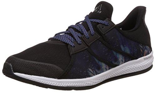 adidas Gymbreaker Bounce W, Scarpe da Corsa Donna Multicolore (Negro / Morado (Negbas / Nocmét / Morsup))