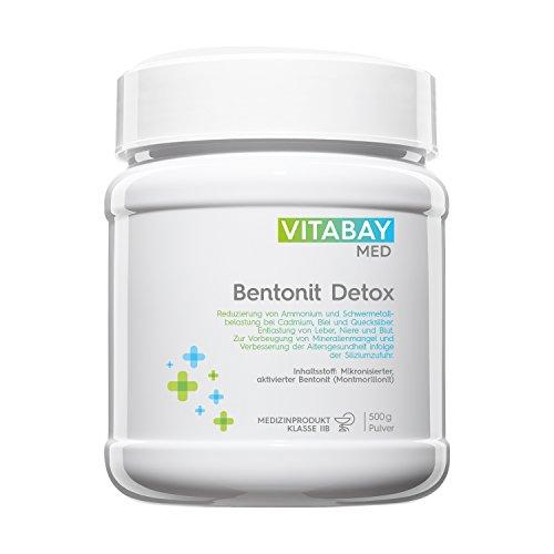 Bentonit DETOX Pulver 500 g - Medizinprodukt - mikronisierter aktivierter Bentonit - Ultrafein -...