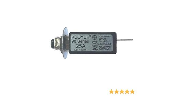 Kuoyuh 25a Serie 98 Sicherungsautomat 125 250vac 50 60hz Gewerbe Industrie Wissenschaft
