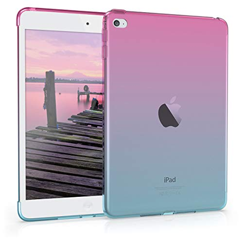 kwmobile Apple iPad Mini 4 Hülle - Tablet Cover für Apple iPad Mini 4 - Pink Blau matt - Tab Case Schutzhülle