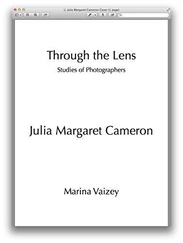 Julia Margaret Cameron (Through the Lens: Studies of Photographers Book 35) (English Edition) por Marina Vaizey