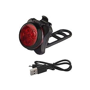 About1988 LED Fahrradlicht Set, USB Wiederaufladbare Fahrradleuchte, Fahrradlampe Fahrradlicht, Aufladbare Fahrradlichter mit 4 blinkenden Modi, 1 USB-Kabel
