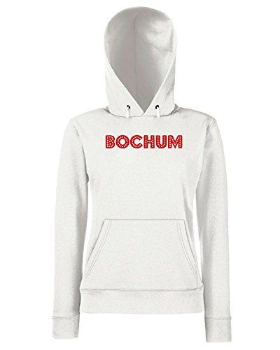 T-Shirtshock - Sweats a capuche Femme OLDENG00217 retro bochum red Blanc