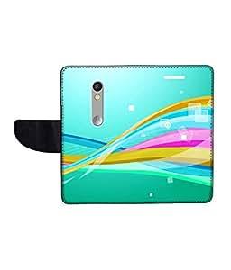 KolorEdge Printed Flip Cover For Motorola Moto X Play Multicolor - (1479-55KeMLogo10947MotoXPlay)
