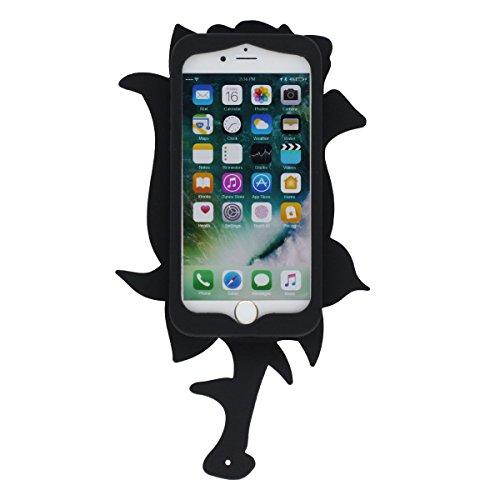 """iPhone 7 Plus Coque Case, Souple Poids léger Silicone Etui Apple iPhone 7 Plus 5.5"""", Anti Choc 360° protection Beau Fleur Se leva Apparence X 1 Stylet Rouge"""