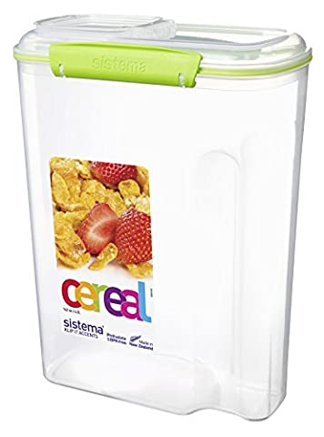 Sistema KLIP IT Accents Cereal Container, 4.2 L - Assorted Colours