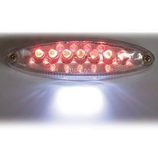 Motorrad LED Rücklicht Mini, mit KZB, klar, E-geprüft