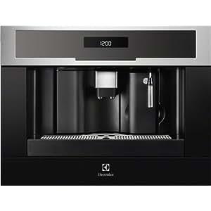 Electrolux EBC54513OX Cafetière (intégré entièrement automatiques grains de Café expresso/Americano l'eau chaude Espresso machine noir acier inoxydable)