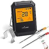 Cosa fa il nostro termometro da cucina WEINAS-CHUGOD?◆ Imposta le tue preferenze e lascia che il nostro termometro fumatore CHUGOD faccia il resto per te.◆ Basta inserire le sonde nelle carni, impostare la temperatura e la cottura nell'app. T...