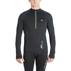 Ultrasport Herren Jimi windabweisendes Angerautes Fleece Laufshirt mit Reflektoren und Quick Dry Funktion